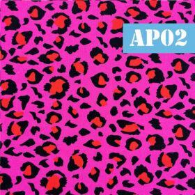 Masti din bumbac cu animal print roz