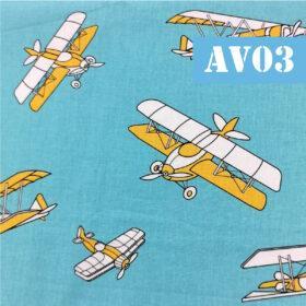 Masti din bumbac cu avioane fundal bleu