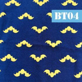 Masti din bumbac cu batman, lilieci, fundal albastru