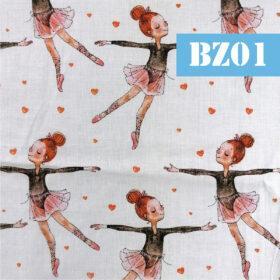 Masti din bumbac cu balerina fetita
