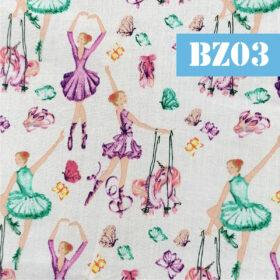 Masti din bumbac cu balerine colorate