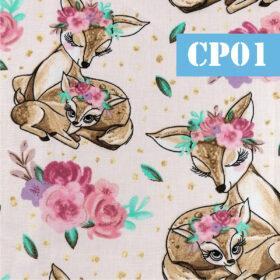 cp01 caprioara cu puiul ei flori
