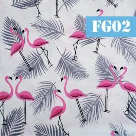 fg02 flamingo frunze albastre