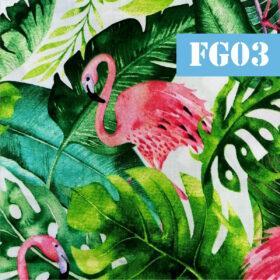 fg03 flamingo frunze verzi
