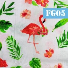 fg05 flamingo portocaliu fundal alb