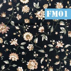 fm01 flori bej pe fundal negru