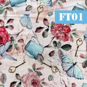 ft01 flori fluturi vintage
