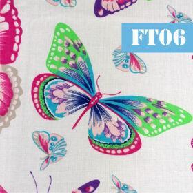 ft06 fluturi mari fundal alb colorati