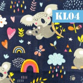 kl04 koala fundal negru