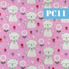 pc11 pisici flori fundal roz