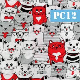 pc12 pisici gri si rosu