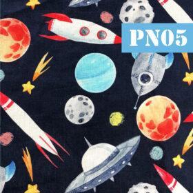 pn05 planete rachete fundal negru