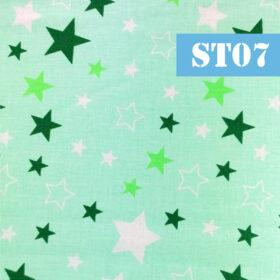 st07 stelute fundal verde
