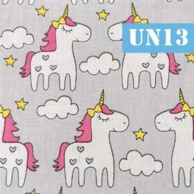 un13 unicorni fundal gri norisori