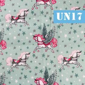 un17 unicorni vintage fundal turcoaz