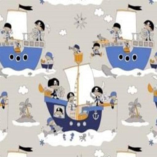 masca cu pliuri pentru copii imprimeu cu pirati