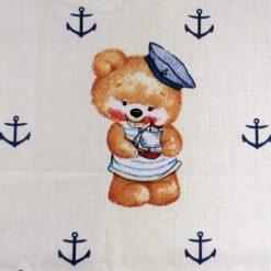 masca cu pliuri pentru copii imprimeu cu ursulet