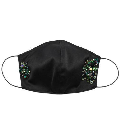 Masca fashion cu strasuri verzi, Masca fashion cu margele (copiază)