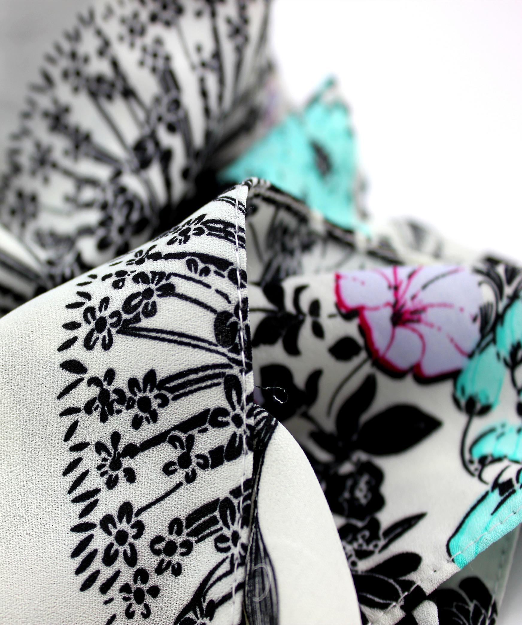 Masca dama 2in1 esarfa cu imprimeu floral