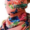 Masca dama 2in1 esarfa colorata in stilul Fashion, Masca dama 2in1 esarfa colorata