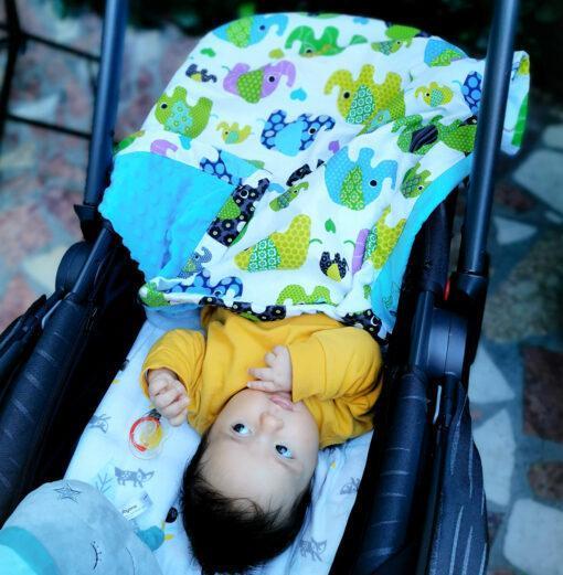 Paturica bebe personalizata cu numele copilului