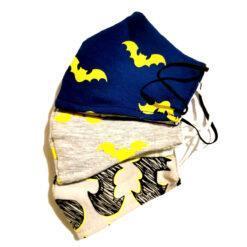 Set 3 masti pentru copii 3-6 ani cu Batman, Set 3 masti pentru copii 7-12 ani cu Batman, set 3 masti protectie fata pentru copii cu batman