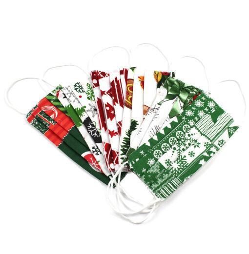 Set 6 masti cu imprimeu Craciun pentru copii 3-6 ani