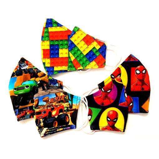 Set 6 masti Tata & Fiu cu Spider man, set 6 masti pentru tata fiu cu spirderman masini si lego